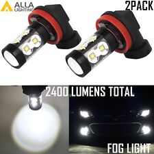 AllaLighting 50W-SMD H16 LED Fog Light Bulb Driving Lamp 6000K White Replacement
