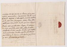 Pérusse des Cars.Signature. Lettre en faveur de M. Vaurhemen pour de Paulmy.1753