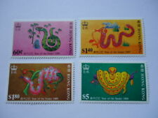 Hong Kong QEII 1989 SG587-90 60c-$5 MNH Chinese New Year - The Year of the Snake