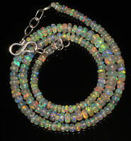 """43Ctw 1Necklace 3to6mm 16""""Beads Natural Genuine Ethiopian Welo Fire Opal 86861"""