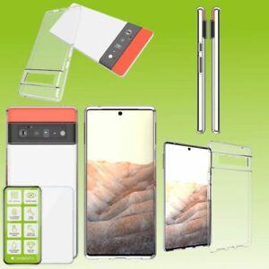 Für Googel Pixel 6 Silikon TPU Transparent + H9 Glas Handy Tasche Etuis Case Neu