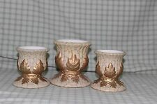 Partylite Trio Gold Leaves Votive Candle Holders
