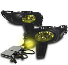 2004 2005 2006 MAZDA 3 SEDAN FRONT BUMPER YELLOW FOG LIGHT+HARNESS+3000K HID SET