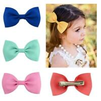 Wome Toddler Girls Hair Clips Ribbon Bow Kids Bowknot Hairpin Headband M7Q4