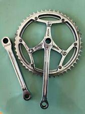 Vintage Legnano Magistroni Crankset Cottered Steel Double 50/47 T