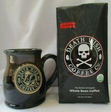 "DEATH WISH COFFEE COMPANY /""RISE AND SHINE/"" 14 OZ DINER MUG 1 LB GROUND COFFEE"
