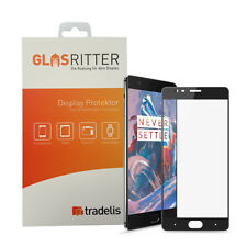 OnePlus 3T Fullcover  Glasfolie Echtglas Tempered Glass Folie schwarz