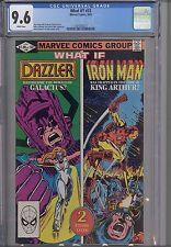What If? #33  CGC 9.6 1982 Marvel Comic: Iron  Man and Dazzler: NEW CGC FRAME