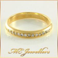 Ladies Solid Yellow Gold 13 x 0.01ct Diamond Ring Band 18k 18k 18ct Sz J1/2 2.7G