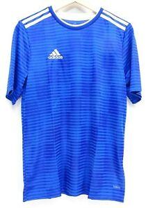 New Adidas Boys Youth Blue Sleek Condivo 20 Training Soccer Football Jersey XL