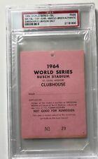 1964 World Series PSA Pass Ticket GM 7 Mantle HR #18 Record/GM 6 Mantle/Maris HR
