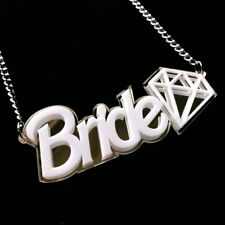 Bride To Be White Diamond Necklace~ Hen Night~Fancy Dress Party Costume~Wedding