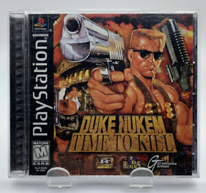 Duke Nukem Time to Kill for Sony Playstation 1 Complete Black Label NTSC CIB PS1