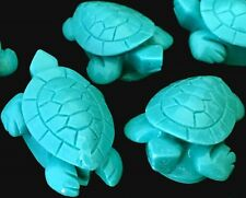 33x23mm Turquoise Blue Resin Turtle Pendant Beads (5)