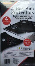 Cocina A Gas Protectores-Negro X 4-Mantén tu placa limpia-no más scubbing! - 27cm