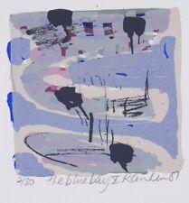 David RANKIN The Blue Bay X - Original Signed Screenprint, Chic Abstract Ocean