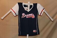 Atlanta Braves MLB Fan Fashion JERSEY/Shirt  by MAJESTIC  Womens Large  NWT $40