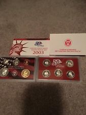 2003 US Mint Silver 10 COIN Proof Set with STATE QUARTERS, ALL ORIGINAL WITH COA
