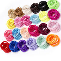 100Pcs Kids Girl Elastic Rope Hair Ties Ponytail Holder Head Band Hairbands Dr