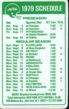 1979 New York Jets Football Schedule jhhp