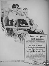 PUBLICITÉ 1927 DIXOR VOUS FEREZ DISPARAITRE LES POILS SUPERFLUS - ADVERTISING
