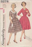 Vintage Full Skirt Dress Sewing Pattern S3278 Size 13