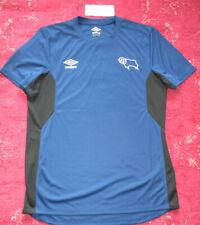 New Umbro Derby City Blue Short/S Ctrew neck Training Top M