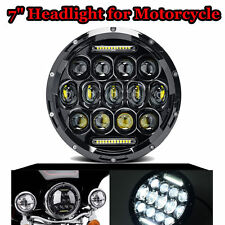 1pc 7inch 75W Round LED Headlight H4 H13 DRL High Low Beam For JEEP JK Wrangler