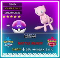 Pokemon Sword & Shield 6IV Legendary MEW! Max EVs Pokeball Plus INSTANT DELIVERY