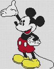Mickey Mouse 2 puntada cruzada contada Kit De Película/Disney/personajes de dibujos animados