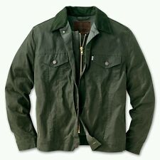 LEVI FILSON GREEN HUNTER TRUCKER JACKET L WAXED COTTON OIL FINISH SHELTER CLOTH