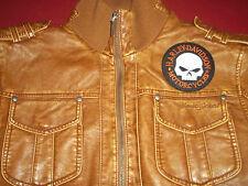 James Jones Kunstleder Jacke mit Harley Davidson Patch ca. Gr.XL  MC 81
