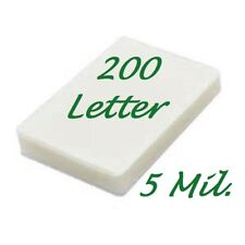 200 Letter Laminating Pouches Laminator Sheets 9 x 11-1/2 5 Mil Scotch Quality