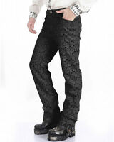 P.H  Mens Trousers Pants Black Brocade Steampunk VTG Gothic Aristocrat