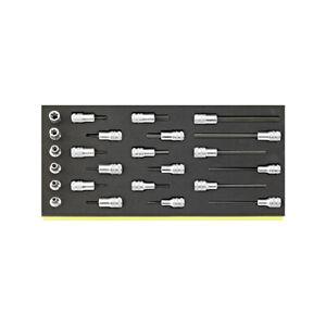 Stahlwille 96838772 Socket set TCS 49/1049/2049/45TX/49TX, 24pcs.