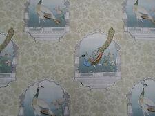 Designers Guild Curtain Fabric 'Peacock Flower' Celadon 3.5 METRES 100% Linen