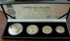 South Africa 2003 Full 4 Coin All Silver Proof Set Wildlife Series - The Rhino