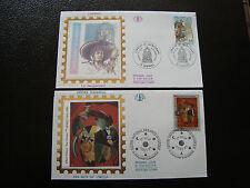 FRANCE - 2 enveloppes 1er jour 1993 (arts du cirquele jacquemard) (cy38) french