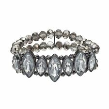 NEW! Simply VERA WANG Beaded & Crystal Stretch Bracelet FREE SHIPPING!