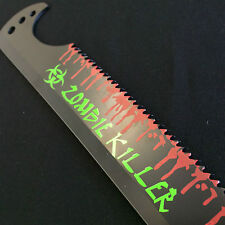 Zombie Killer Bio Hazard Full Tang Blood Splatter Sharp Machete HK96