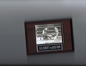 JACK DEMPSEY KO'S LOUIS FIRPO PLAQUE BOXING CHAMPION PHOTO PLAQUE