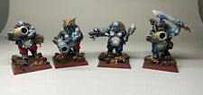 Warhammer AOS Ogre Kingdoms - Pro Painted Leadbelchers X 4 - Magnetic Bases