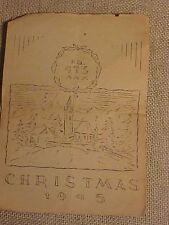 ORIGINAL WWII HQ 473RD AAA CHRISTMAS MENU 1945 MUNICH GERMANY