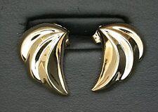 14Kt Yellow Gold Pair Swirl Fashion Post Earrings 14KE3