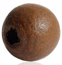 300 Stück Runde Holzperlen, Dunkelbraun, D. 10mm, Loch 2,9mm Schmuck Basteln DIY