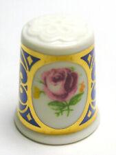 Fingerhut Thimble von Weimarer Porzellan - Rose