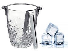 Imperdibile portaghiaccio in vetro con pinza da 90 cl ice-bucket servizio tavola