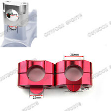 CNC Taper Fat Handle Bar Riser Mount Clamps Riser Bore 28mm Base 22mm For Honda
