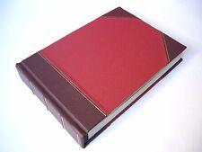 Leather Bound Photo Album Wedding & Special Occasions - Burgundy