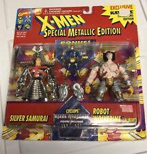 Silver Samurai,robot Wolverine Albert Cyclops Xmen Toybiz Action Figures 3x Moc